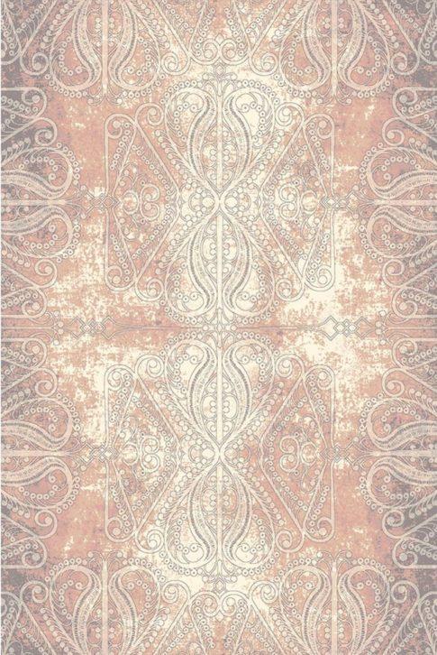 Wzorzysty ipastelowy dywan