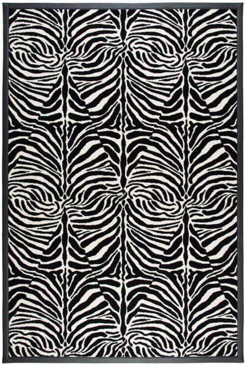Dywan polski Agnella Book of Design Special ZEBRA black wełna
